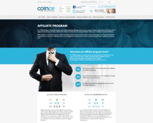 Affiliate schéma projektu Coince