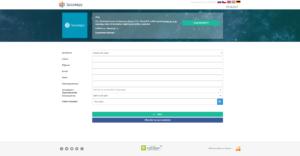 Registrační formulář do projektu