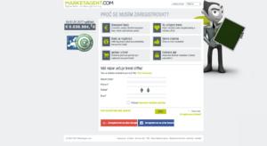 Registrační stránka služby