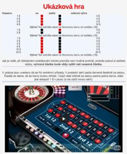 Příklad hry na ruletě