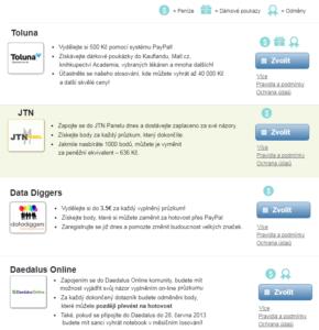 Centrum Průzkumů - seznam partnerů