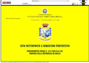 Dexcar.ch - stránka s varováním od italské policie