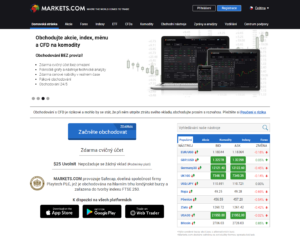 Webová stránka Markets.com
