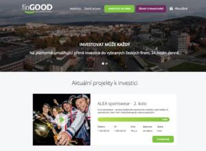 Webová stránka projektu finGOOD